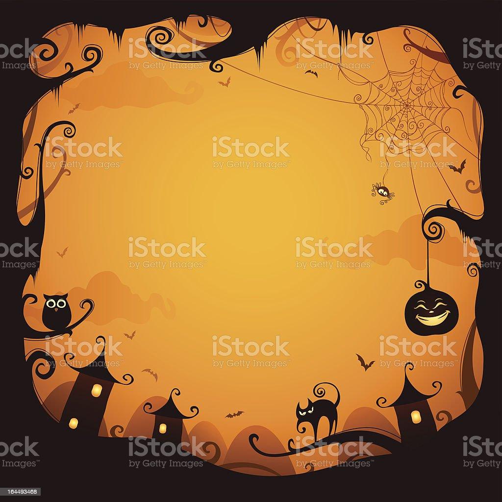 Halloween border for design royalty-free stock vector art
