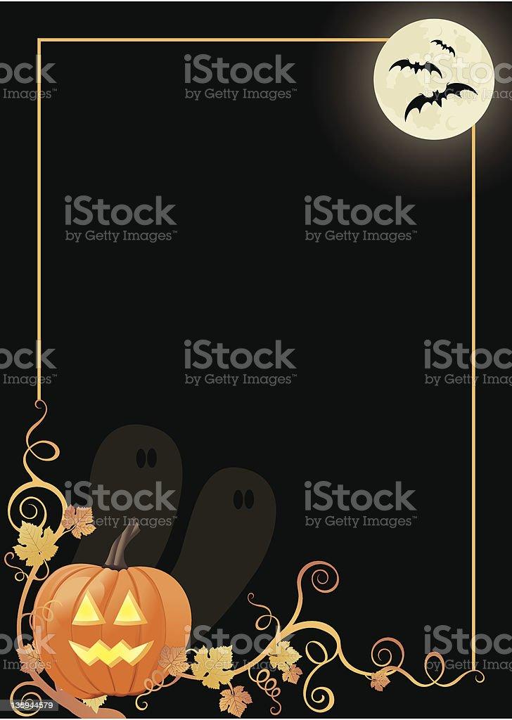 Halloween Border vector art illustration