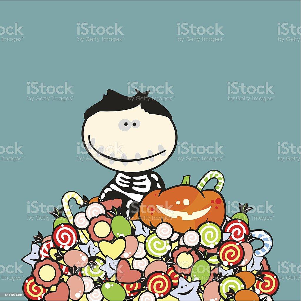 Halloween boy royalty-free stock vector art