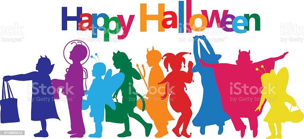 Halloween Bright Colors vector art illustration
