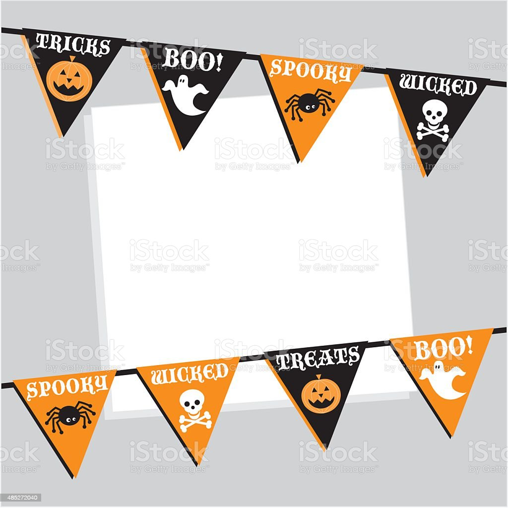 Halloween Bunting Invite with Copy Space vector art illustration