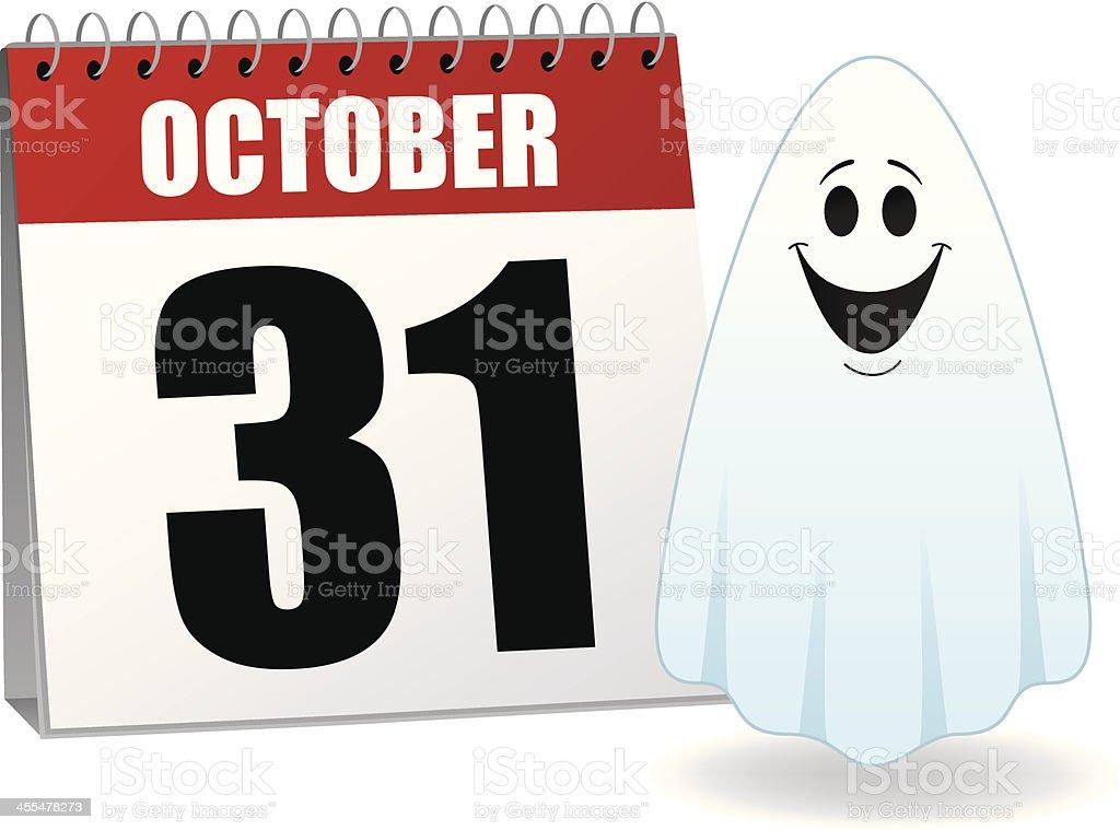 Halloween Calendar royalty-free stock vector art