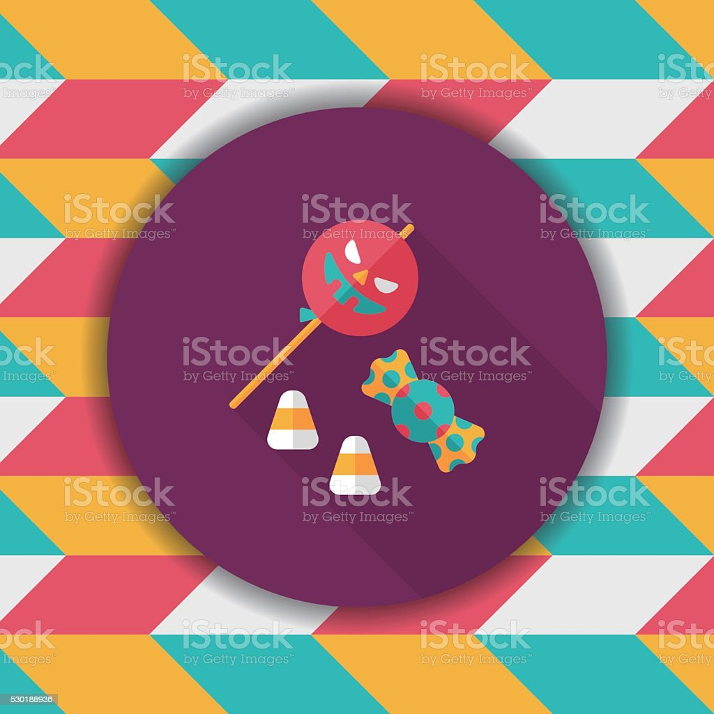 halloween candy flat icon with long shadow,eps10 vector art illustration