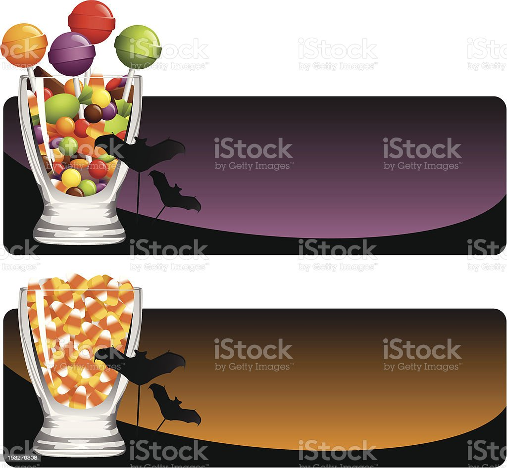Halloween Candy Set vector art illustration