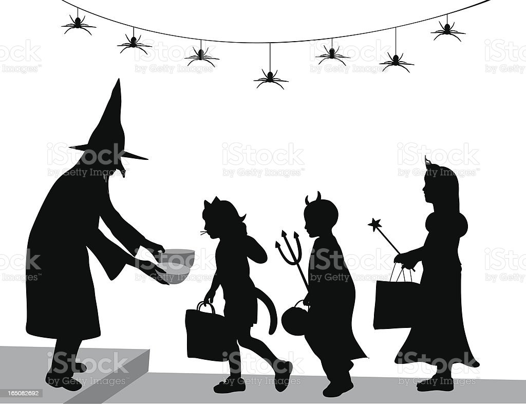 Halloween Candy Vector Silhouette vector art illustration