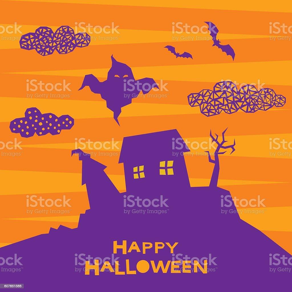 Halloween card background. vector art illustration