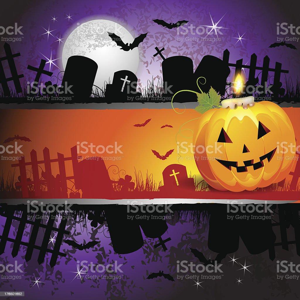 Halloween card design royalty-free stock vector art