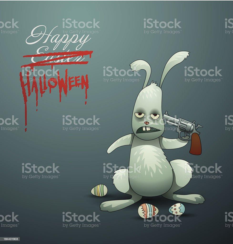 Halloween card Easter Bunny royalty-free stock vector art