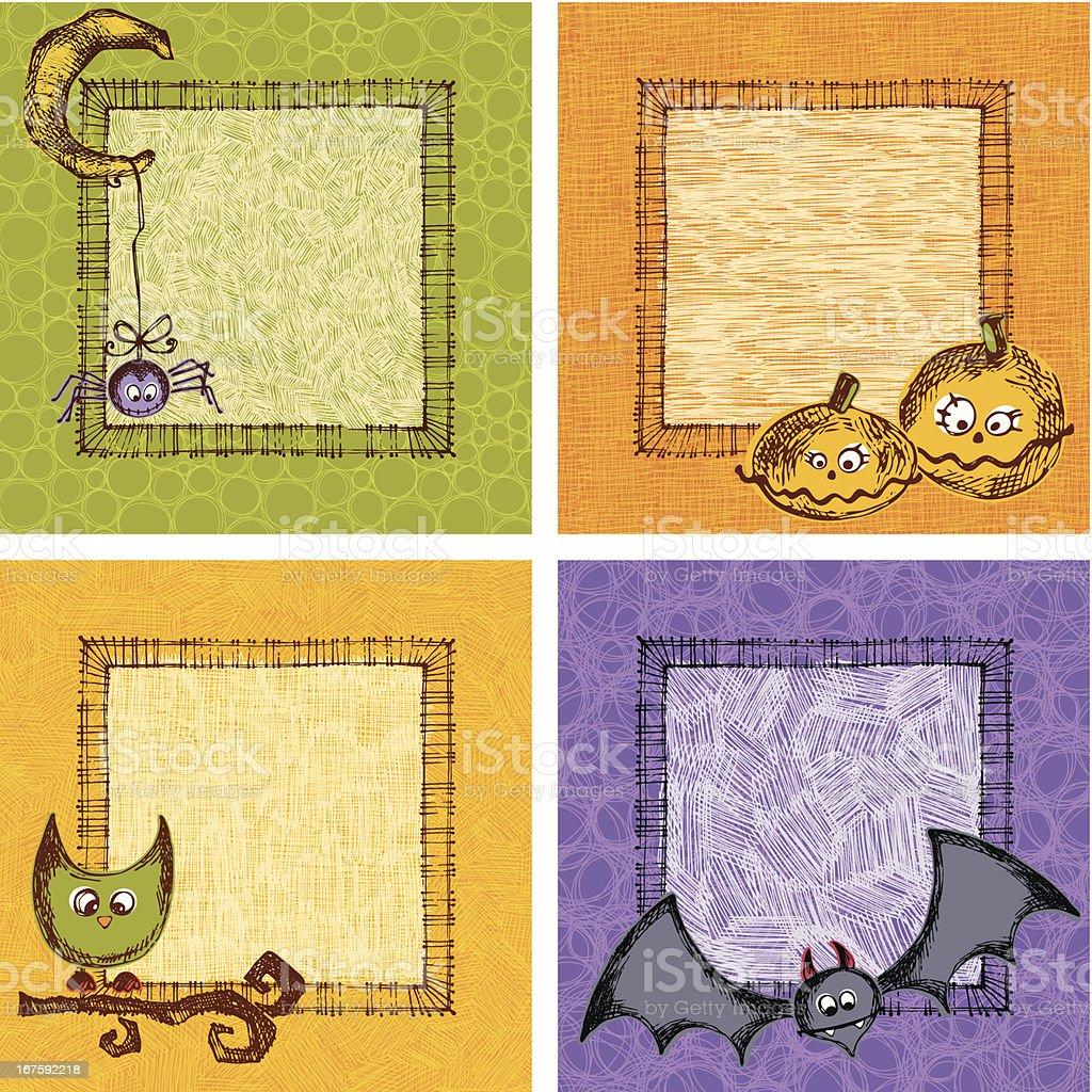 Halloween Card Set royalty-free stock vector art