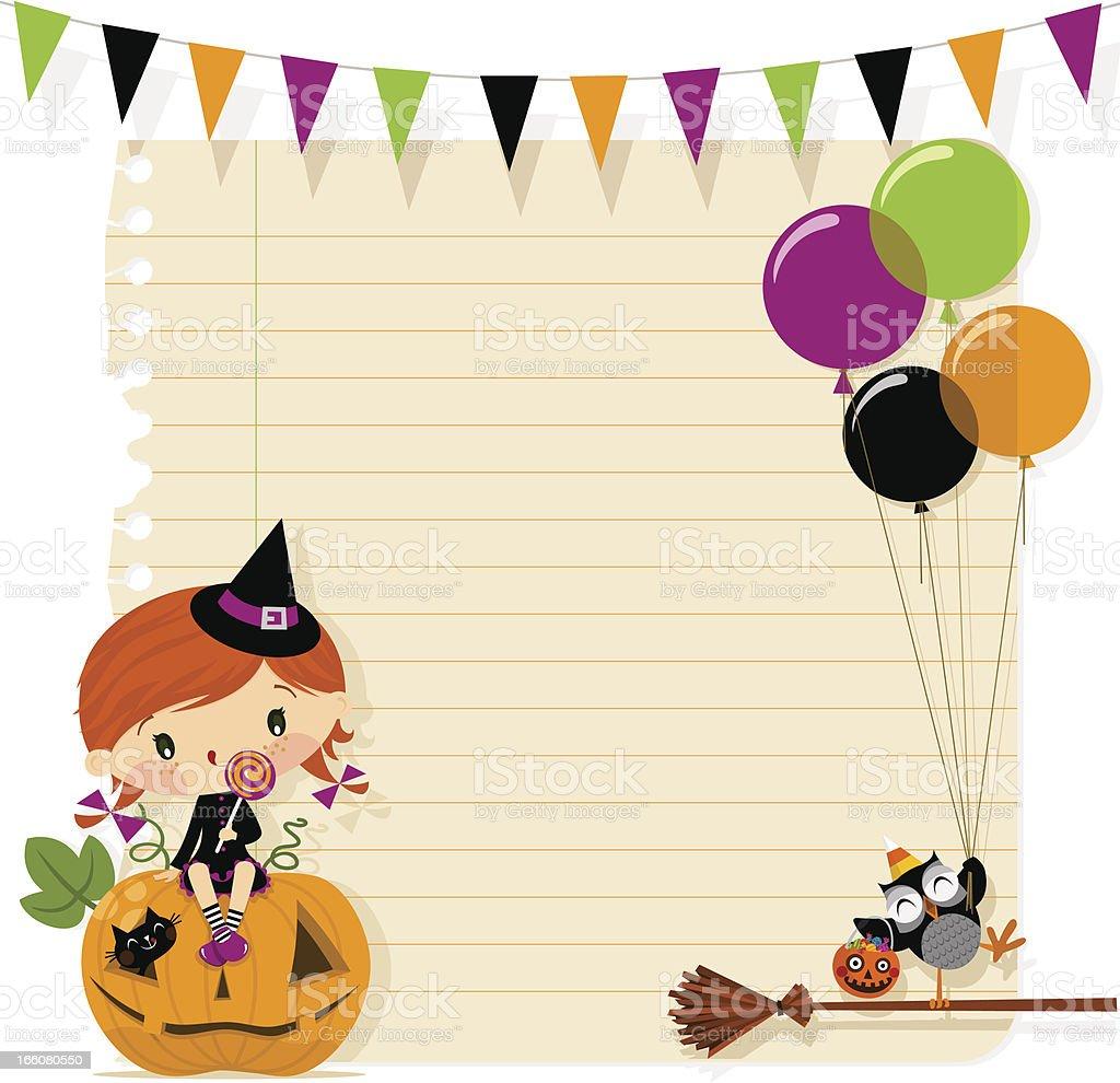 Halloween card royalty-free stock vector art
