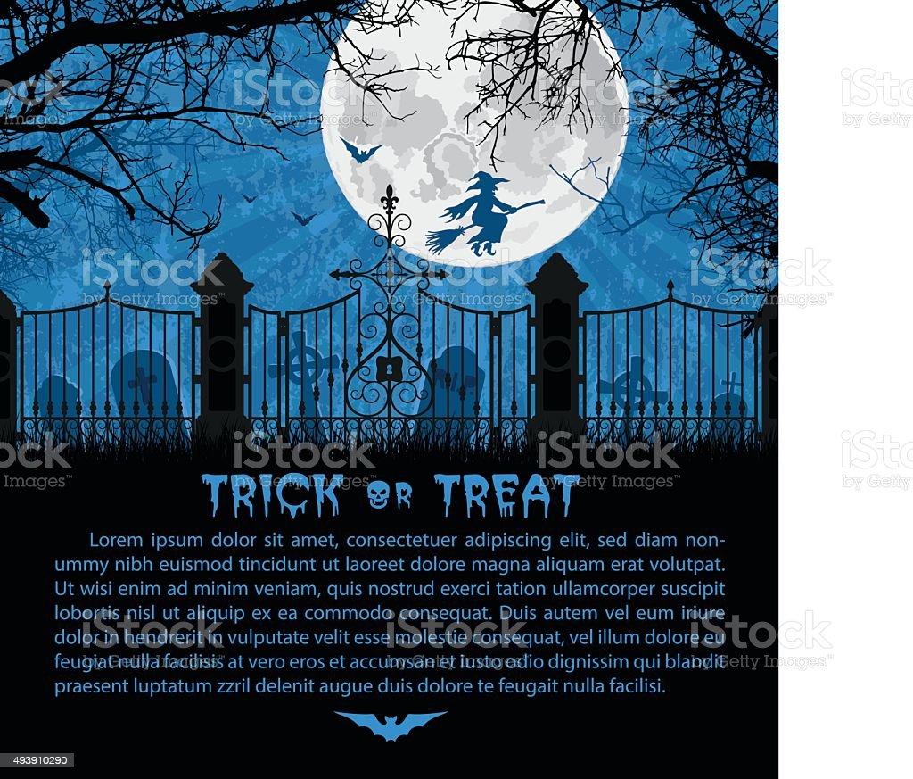 Halloween Card vector art illustration