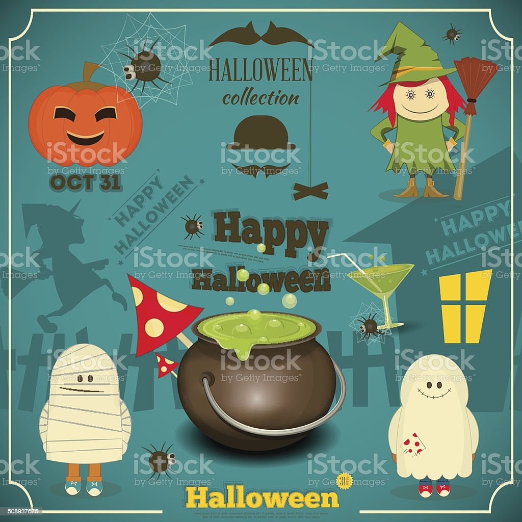 Halloween Card royalty-free stock vector art