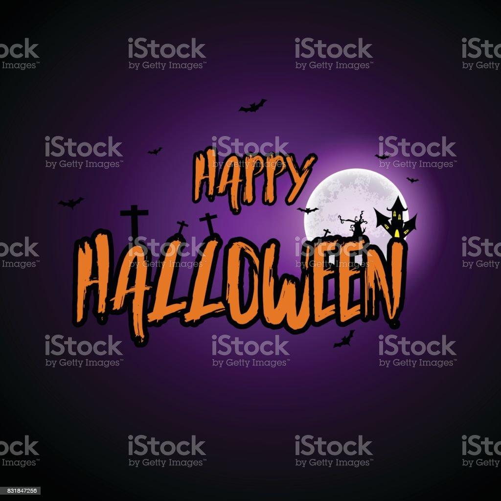 Halloween Carnival Background, Orange purple balloons, Celebration Vector illustration vector art illustration