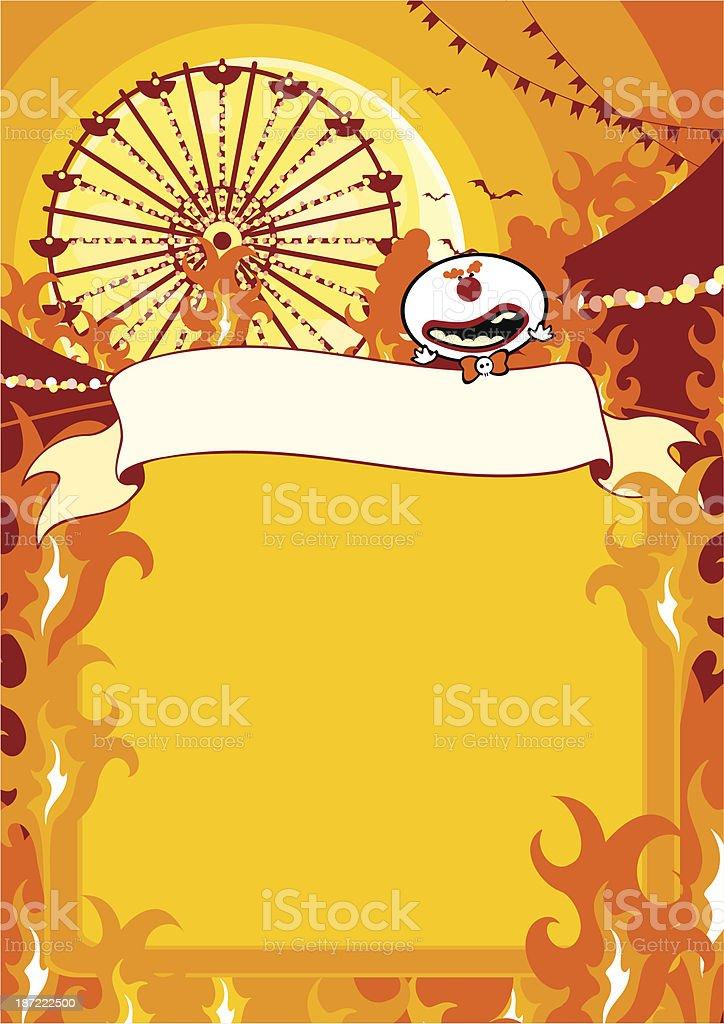 Halloween carnival on fire royalty-free stock vector art