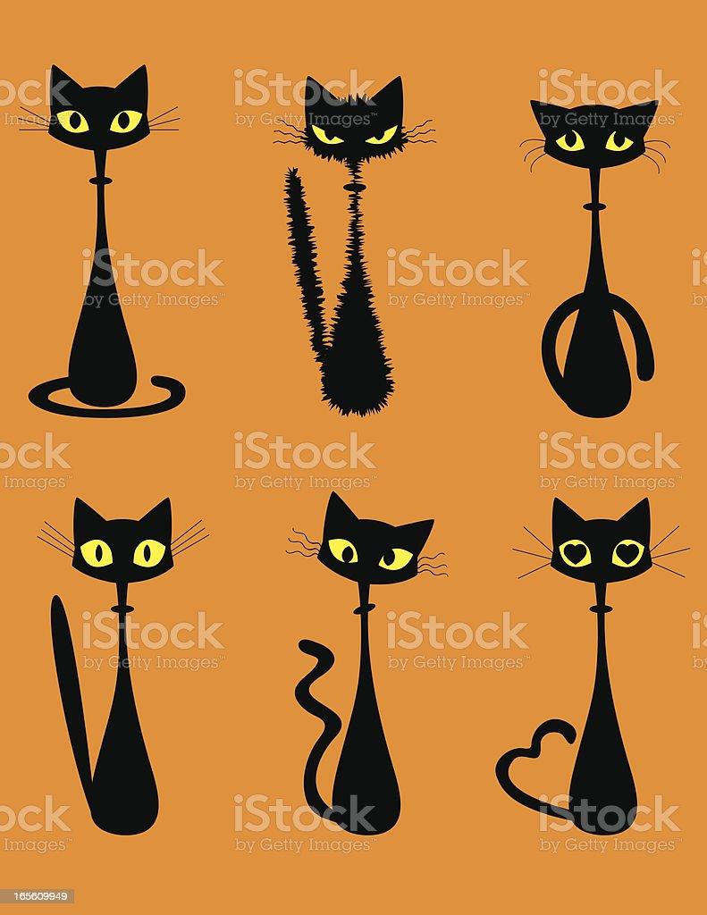 Halloween Cat vector art illustration