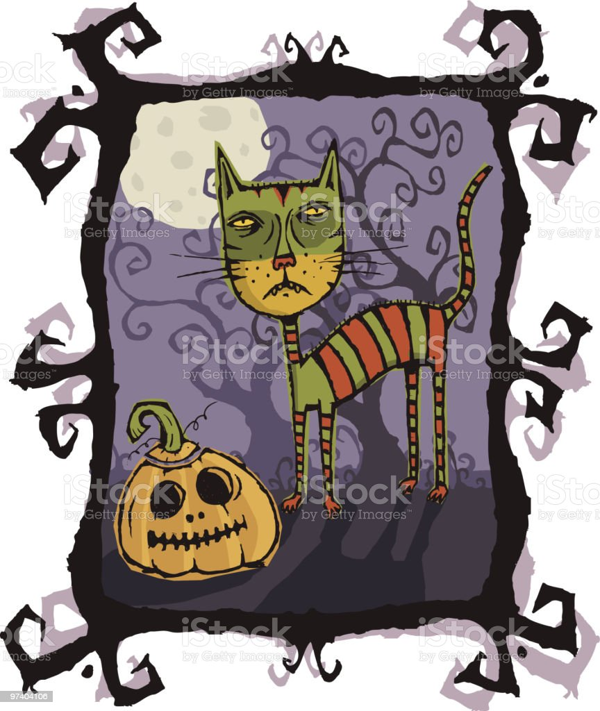 Halloween Cat royalty-free stock vector art