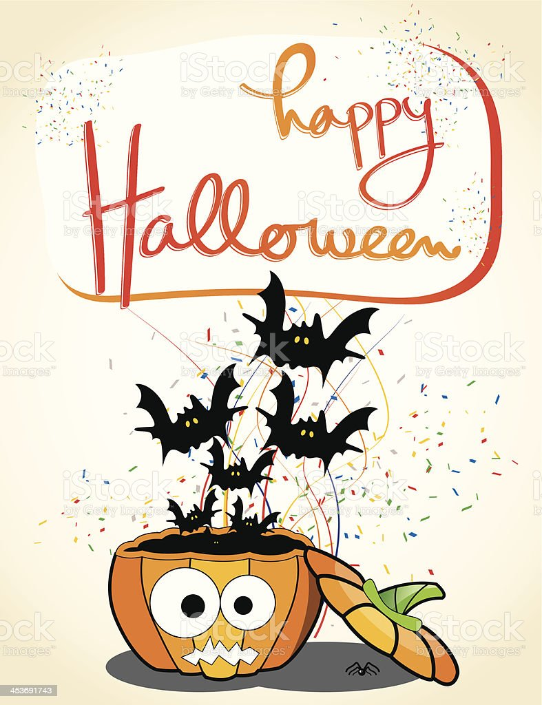 Halloween Celebration invitation royalty-free stock vector art