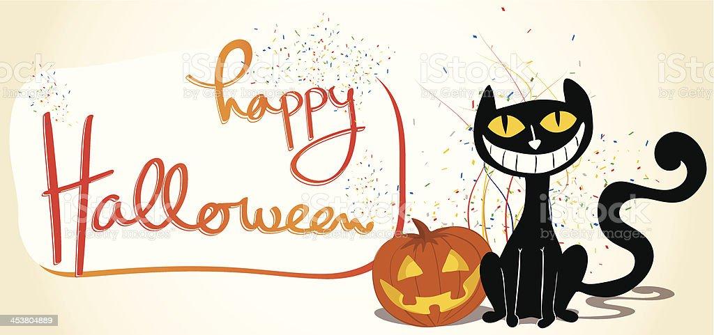 Halloween Celebration Invitation vector art illustration