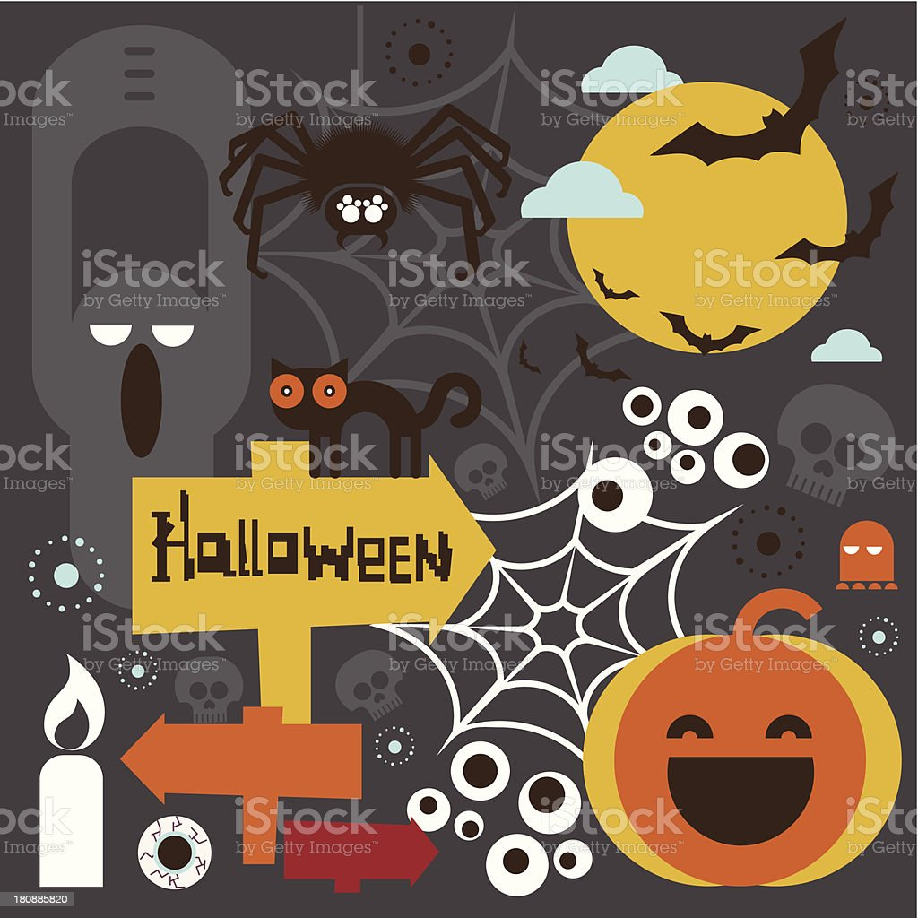 Halloween characters royalty-free stock vector art