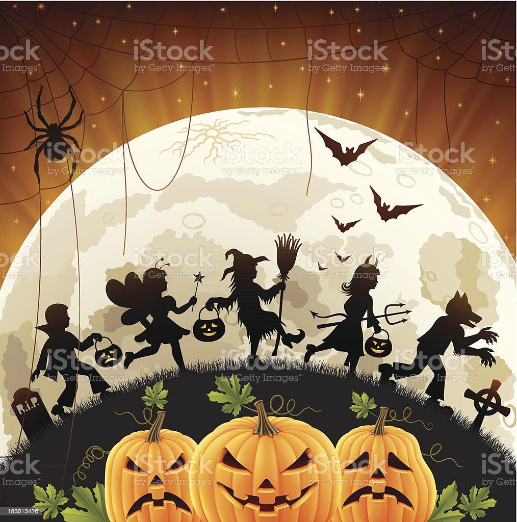 Halloween Children royalty-free stock vector art