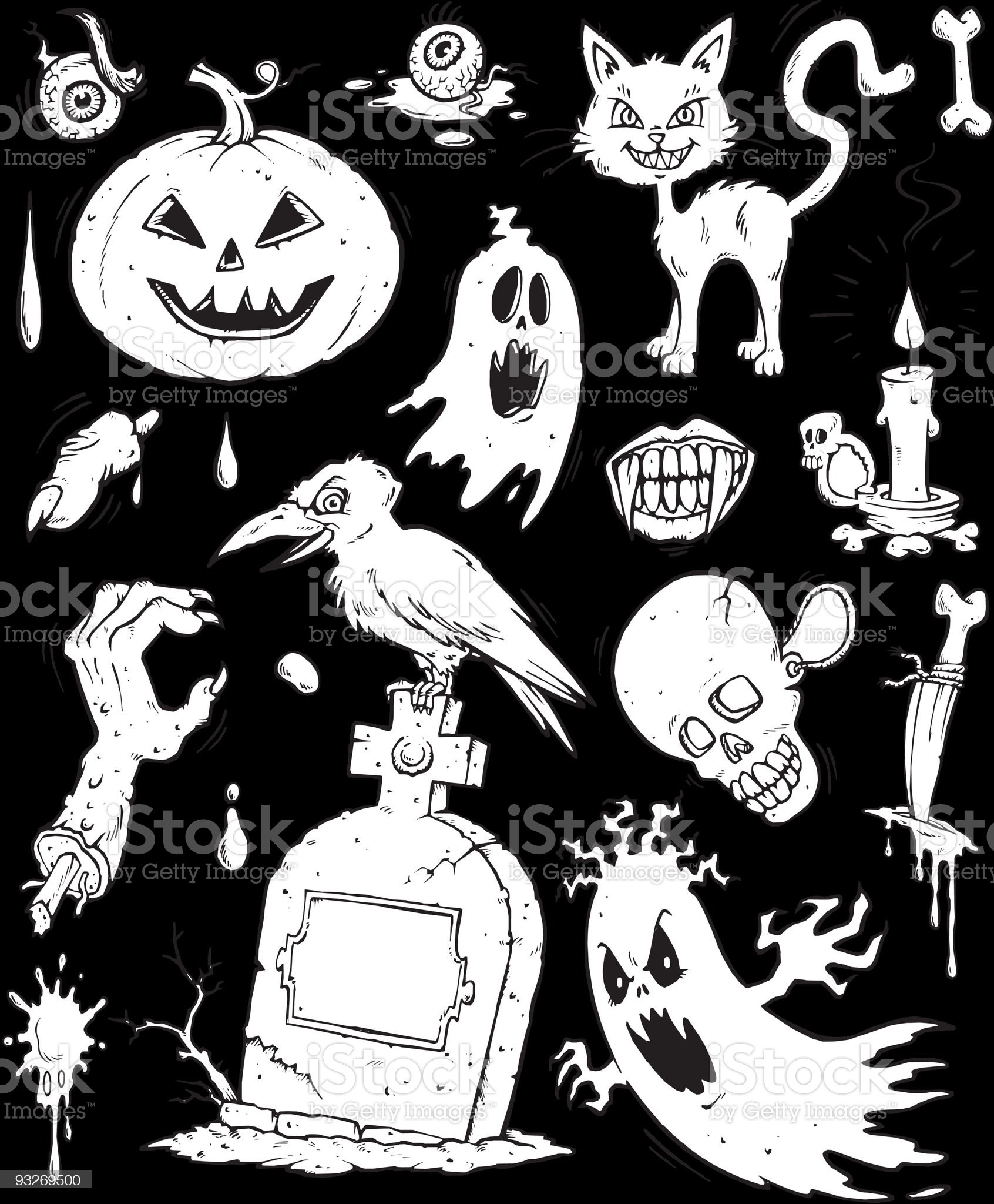 Halloween clip-art Collection royalty-free stock vector art