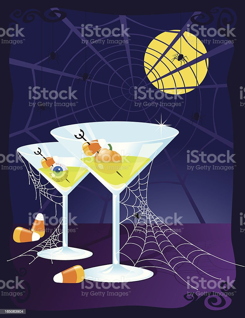 Halloween Cocktails royalty-free stock vector art
