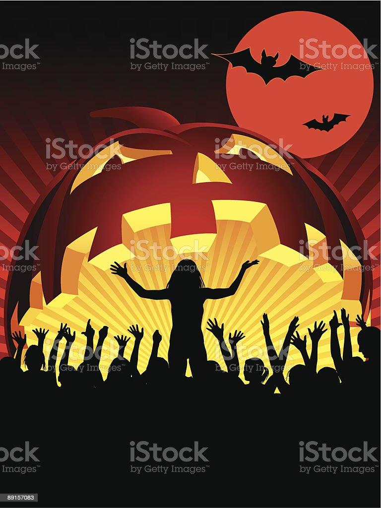 Halloween concert royalty-free stock vector art