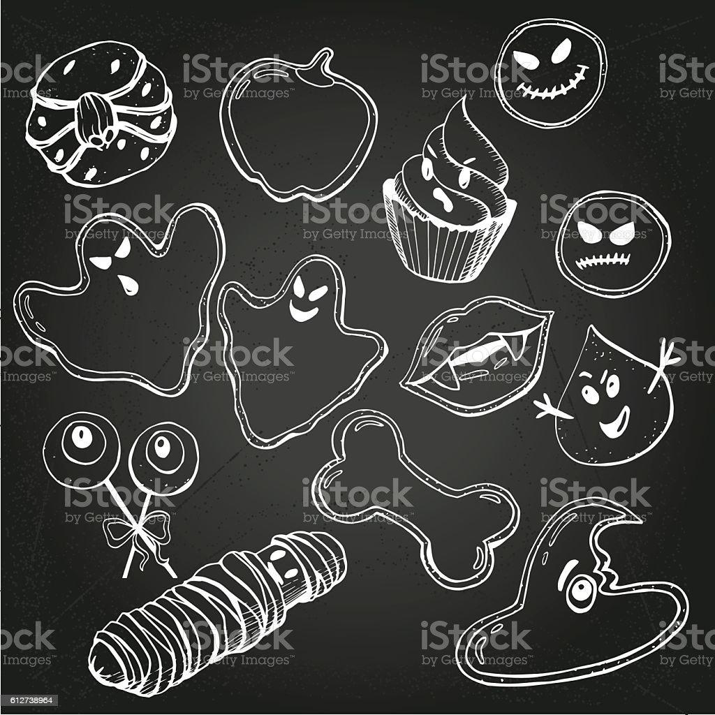 Halloween Cookies 1 vector art illustration
