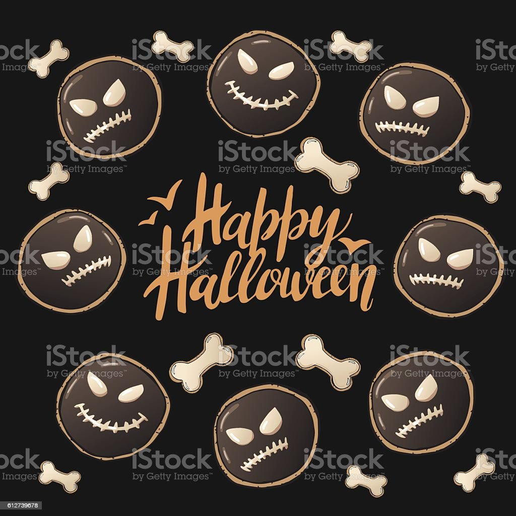 Halloween Cookies 5 vector art illustration