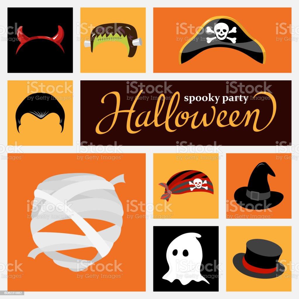 Halloween Costume Hat vector art illustration