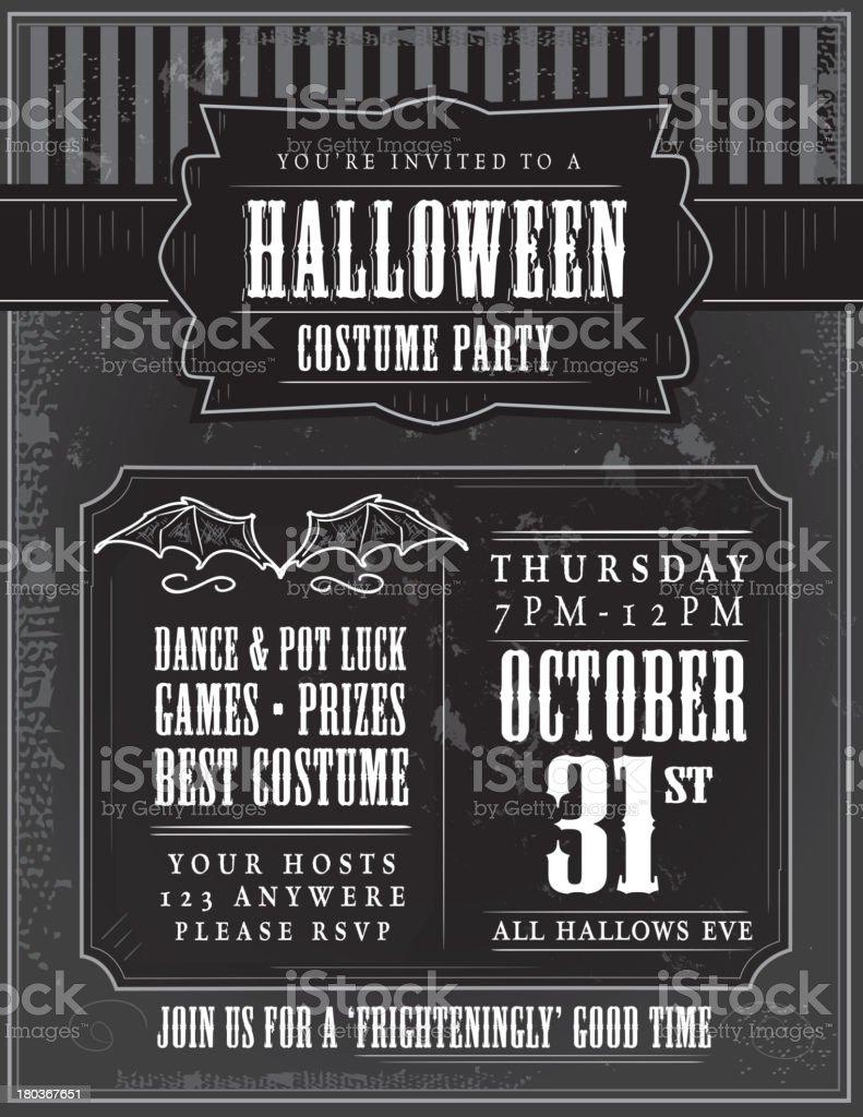 Halloween costume party invitation design template royalty-free stock vector art