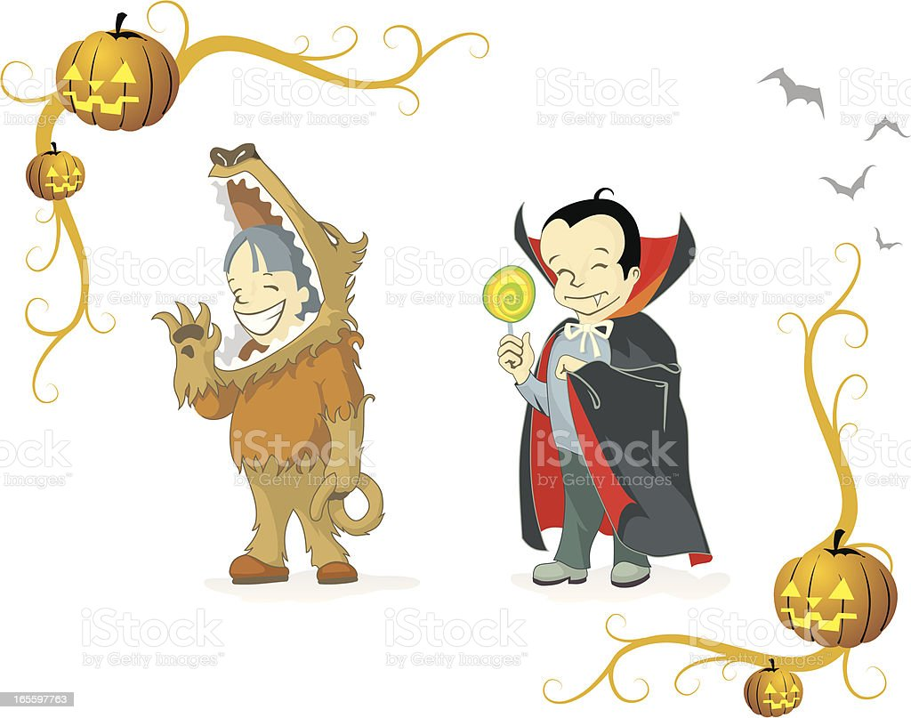 Halloween Costumes 3 royalty-free stock vector art