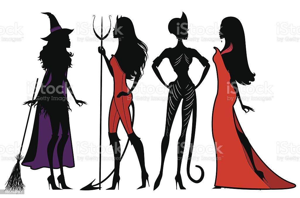 Halloween Costumes vector art illustration