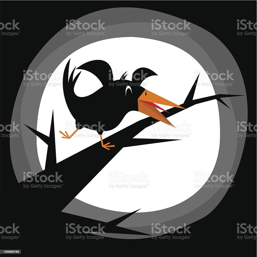 Halloween crow vector art illustration