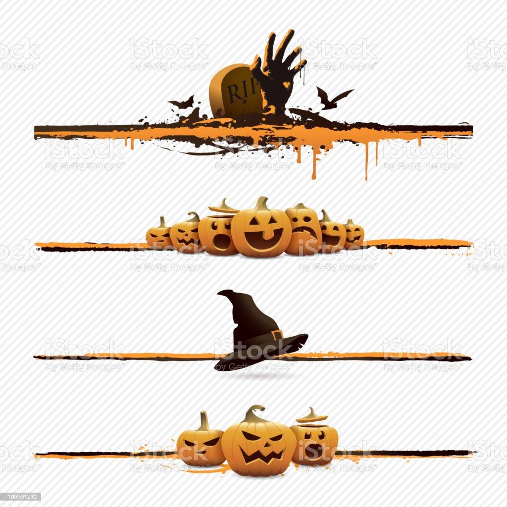 Halloween design elements vector art illustration