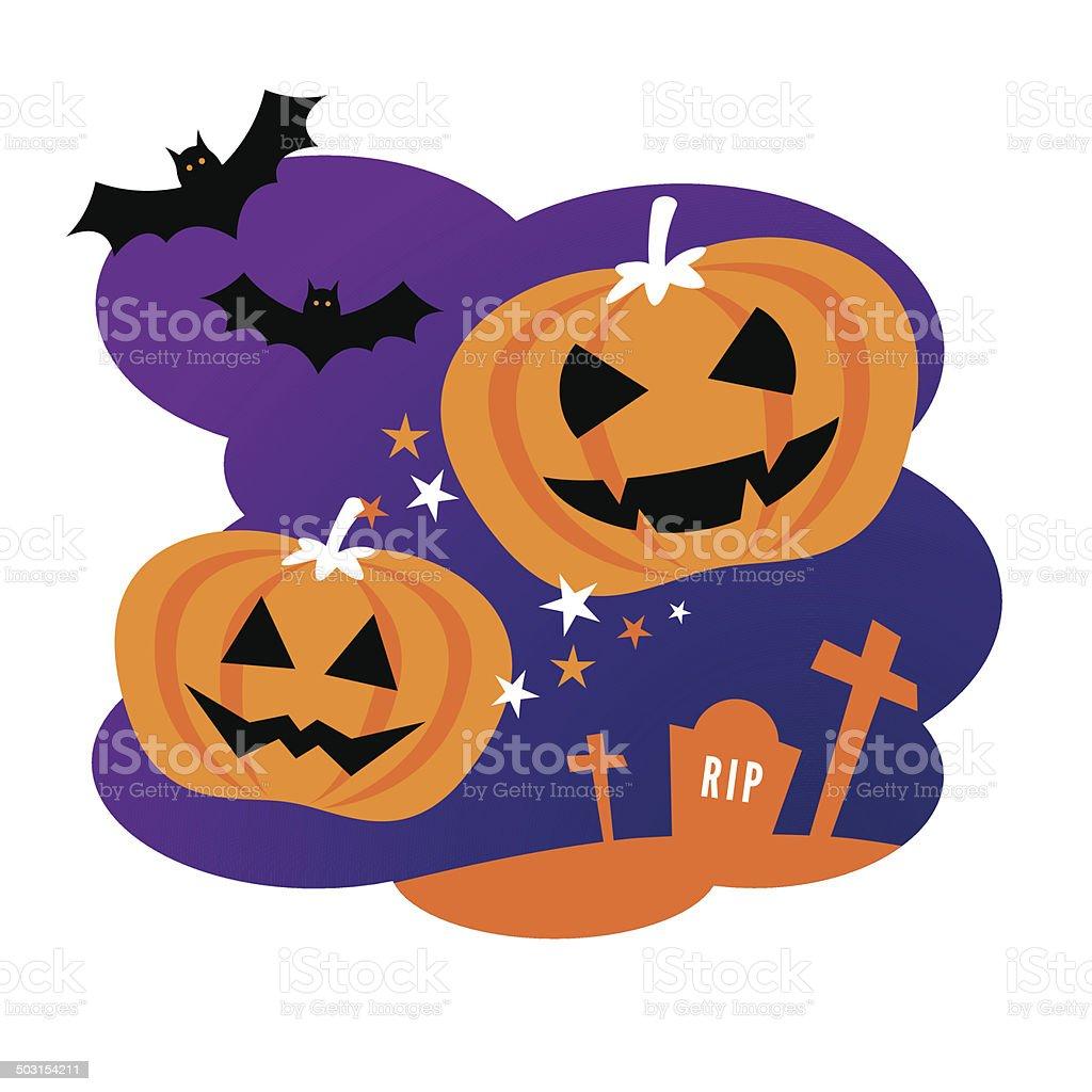 Halloween Design with Pumpkins royalty-free stock vector art