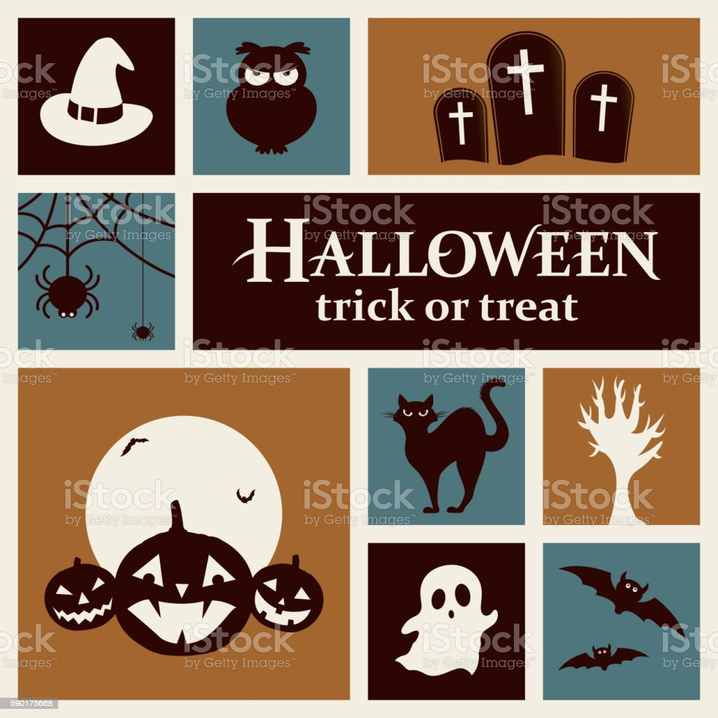 Halloween Elements vector art illustration