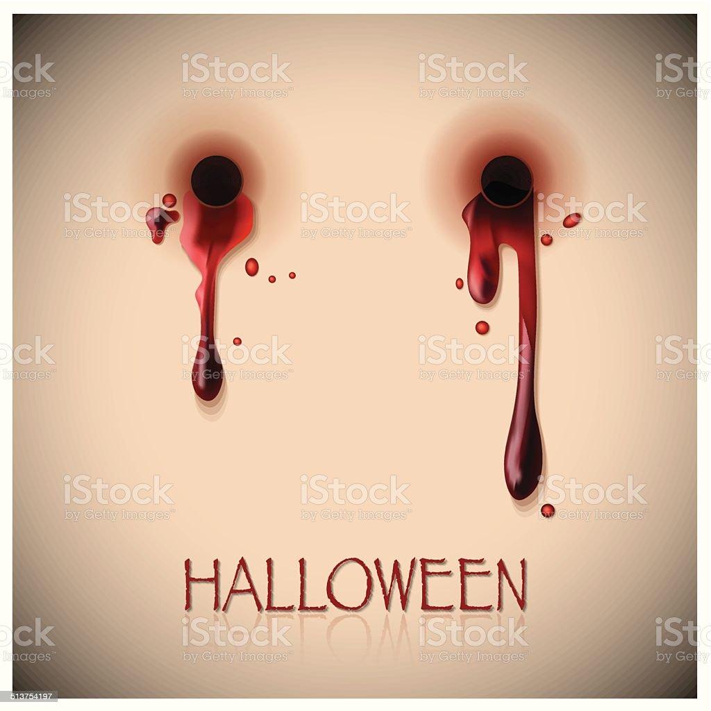 Halloween Festival Bite And Blood Background vector art illustration
