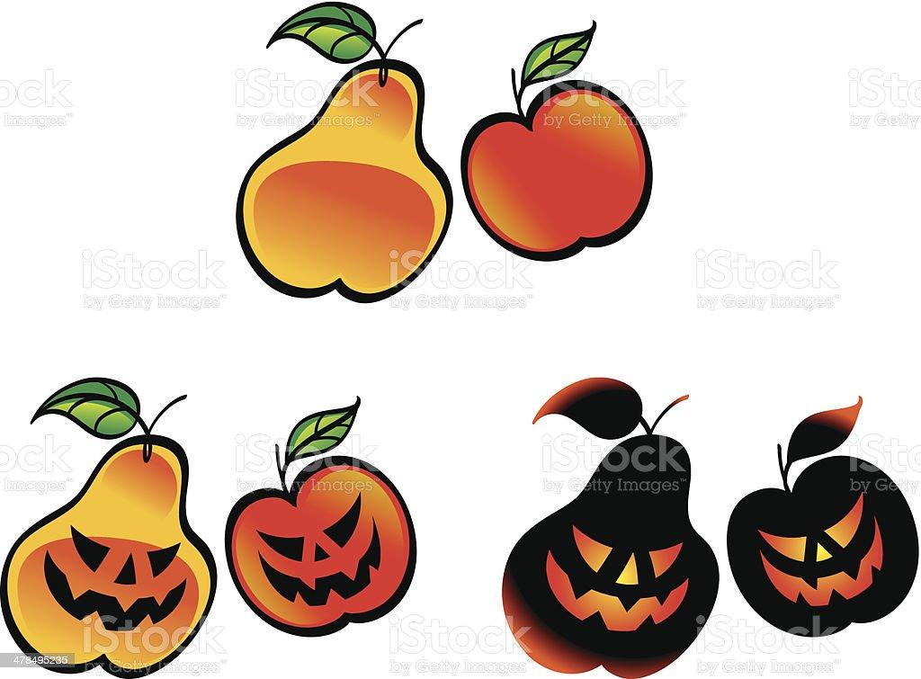 Halloween fruits royalty-free stock vector art