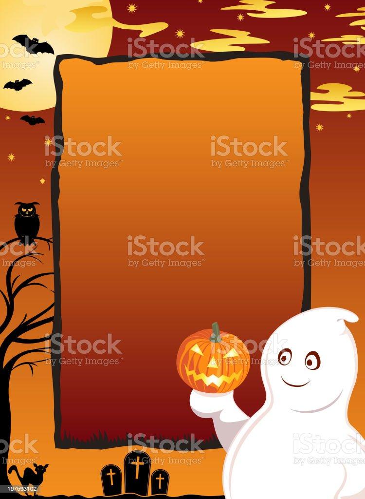 Halloween Ghost Notice royalty-free stock vector art
