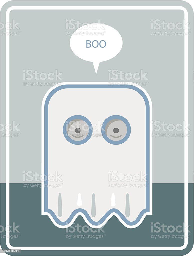 Halloween Ghost vector art illustration