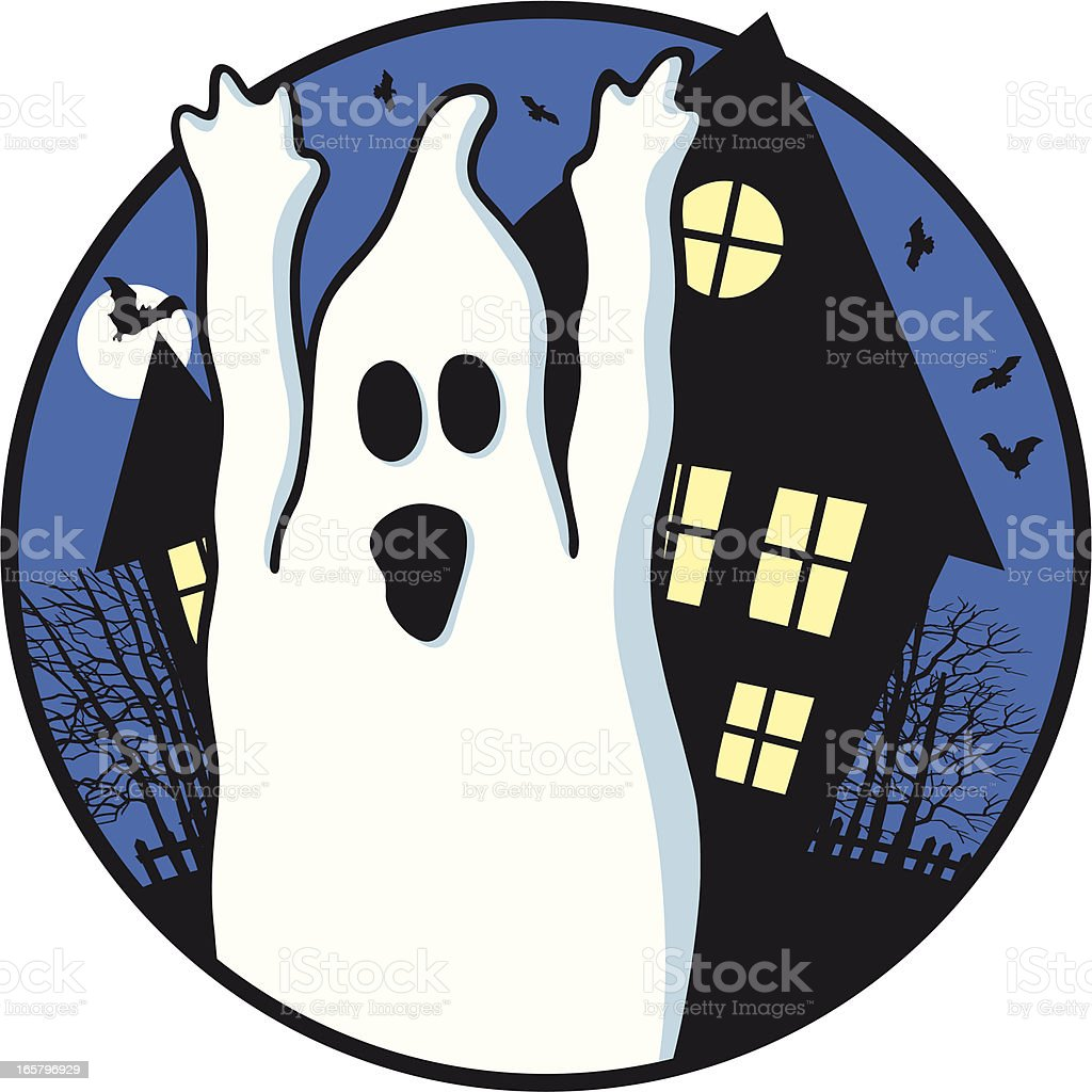 Halloween ghost royalty-free stock vector art
