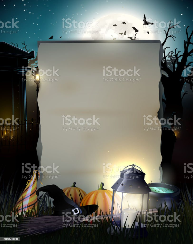 Halloween gloomy background vector art illustration