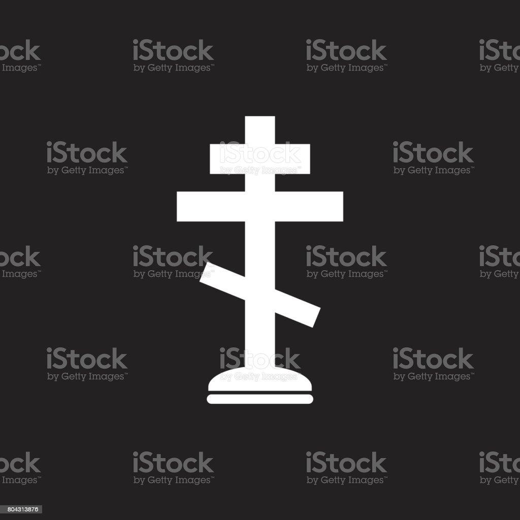 Halloween grave icon. Gravestone vector illustration. Rip tombstone flat icon. vector art illustration