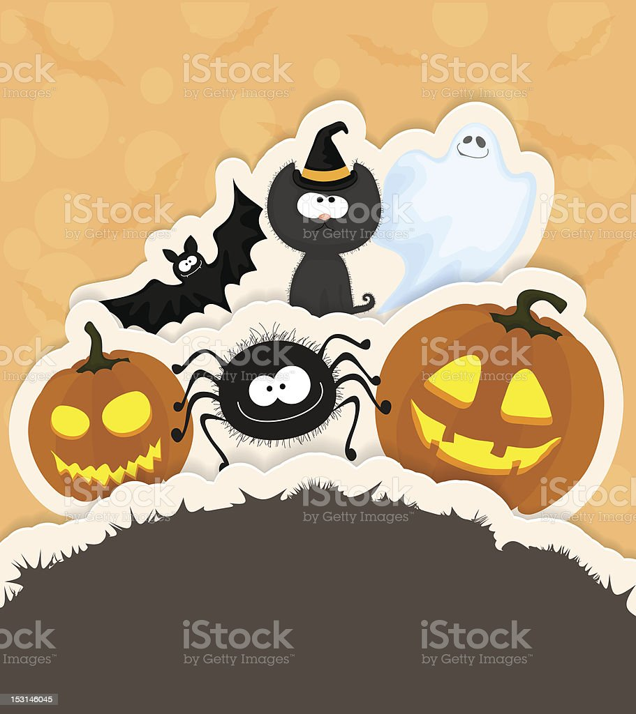 Halloween greeting card royalty-free stock vector art