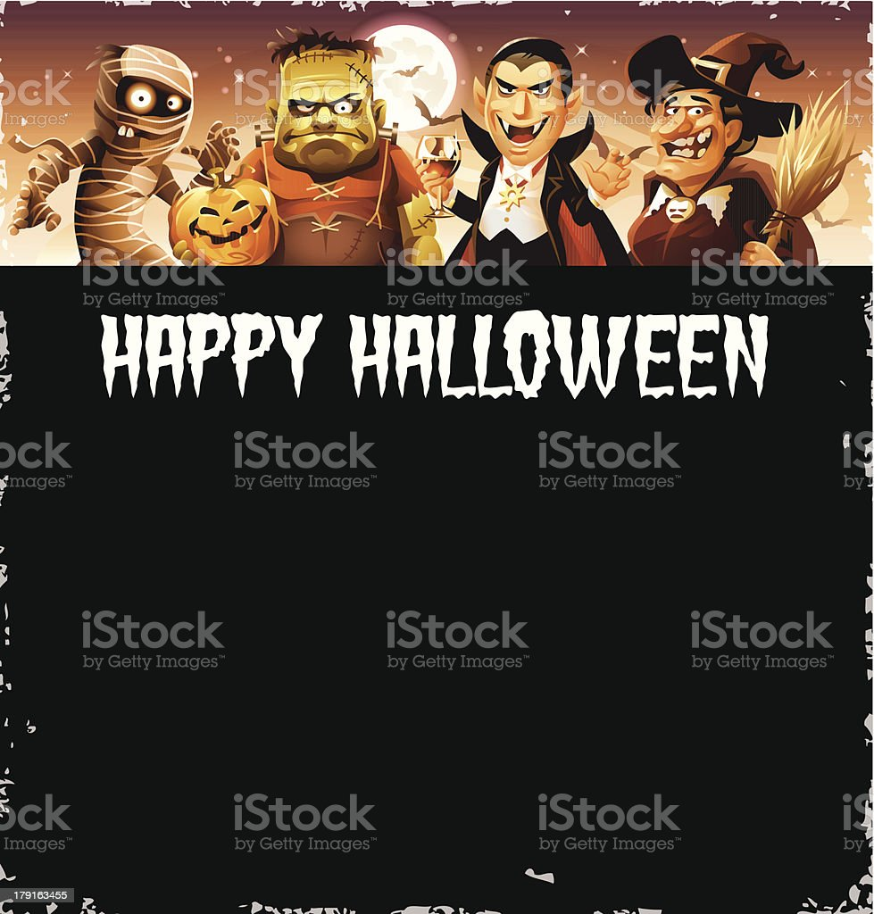 Halloween Greeting Card vector art illustration