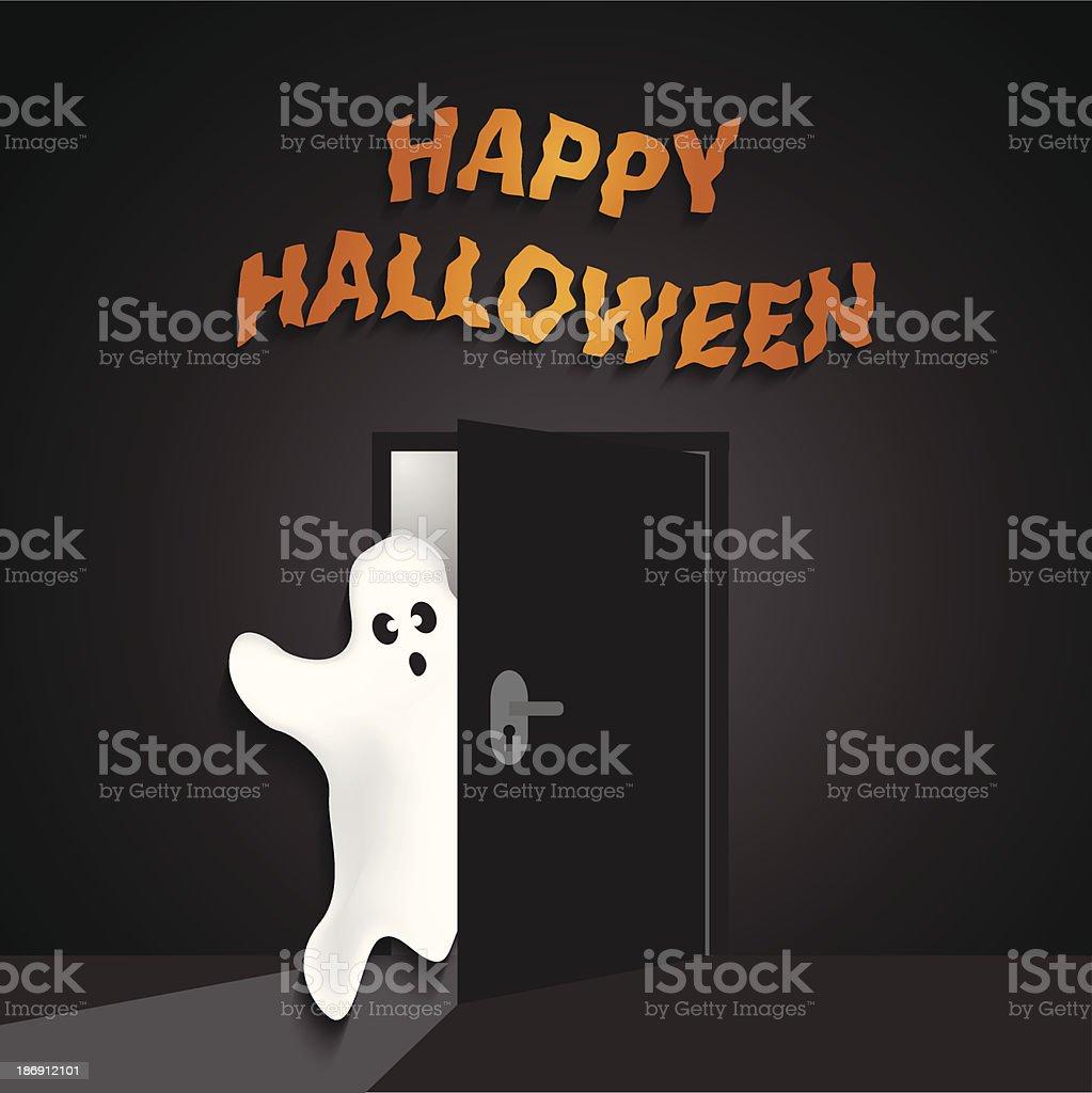 Halloween greeting card royalty-free stock vector art