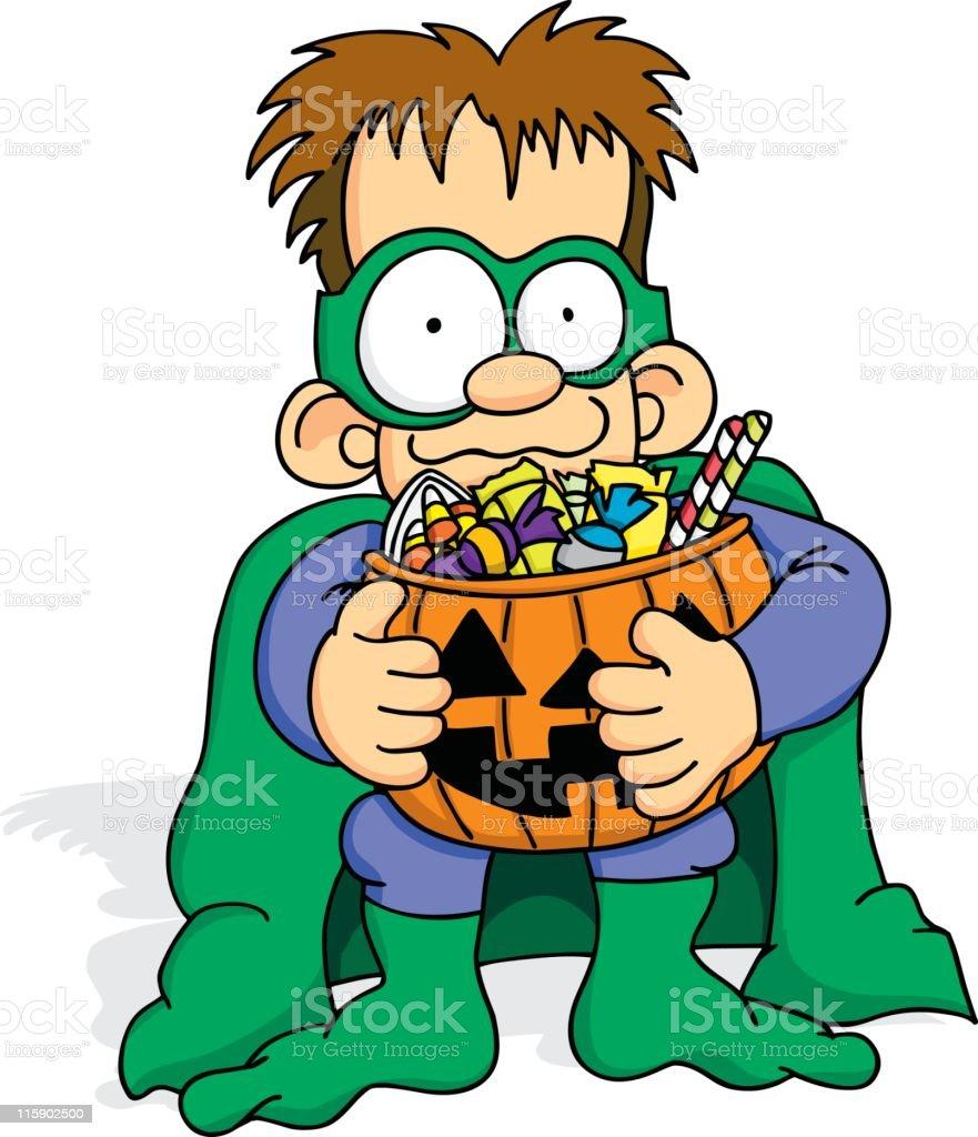 Halloween Haul royalty-free stock vector art