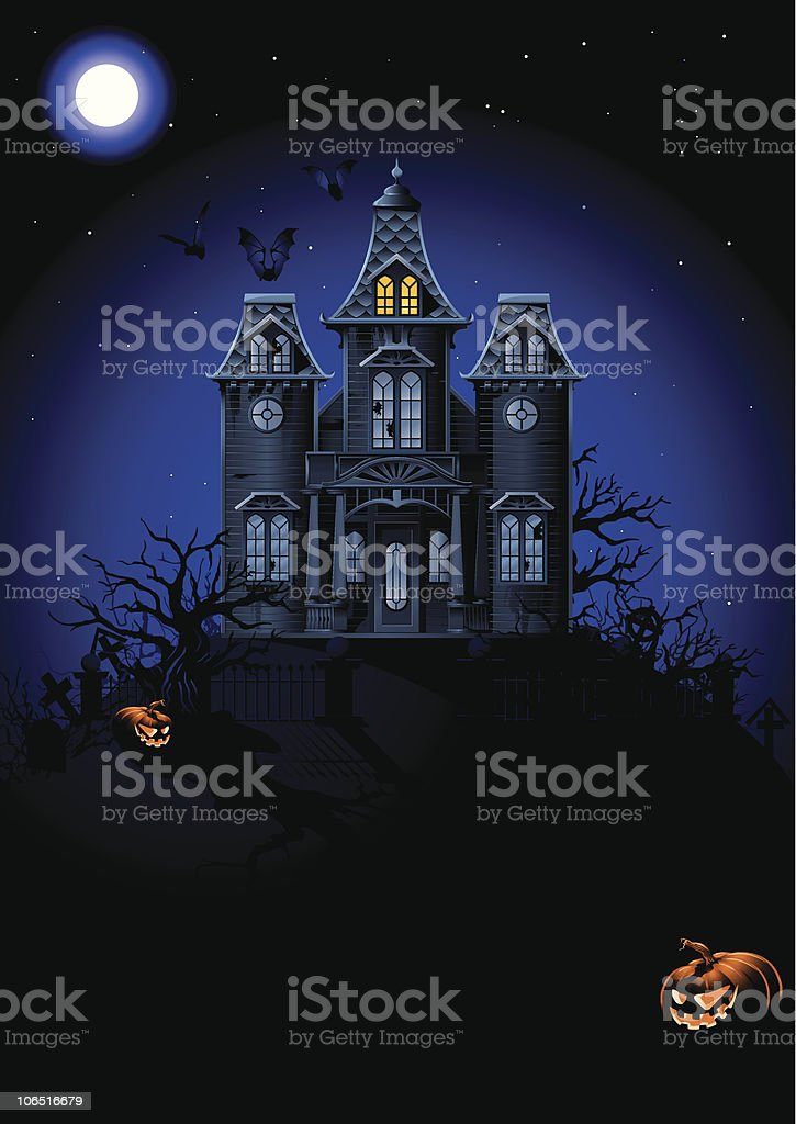 Halloween Haunted House royalty-free stock vector art