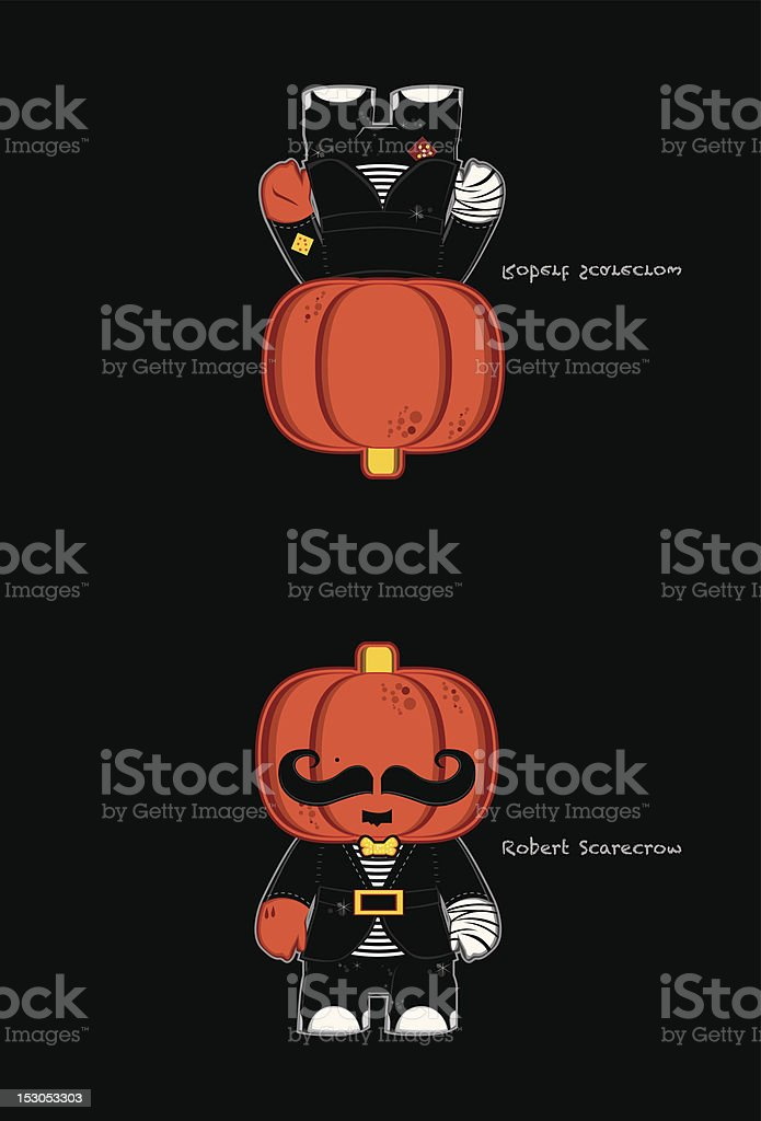 Halloween Holiday Card (Front/Back) royalty-free stock vector art